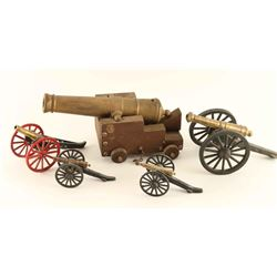 Lot of 5 Miniature Cannons
