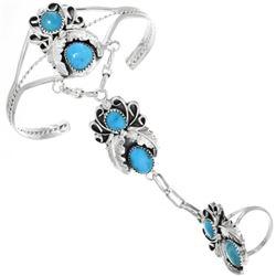 Navajo Turquoise Princess Bracelet Set
