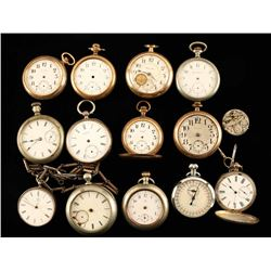 Lot of 14 Pocket Watches