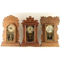 Lot of 3 Antique Clocks