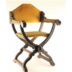 Antique Savonarola Style Chair