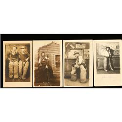 Lot of 4 Old West Photo Postcards
