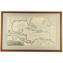Map of Trade Winds of the West Indies Print