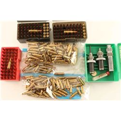 Lot of .221 Ammo/Brass/Dies