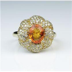 Sensational Designer style Orange Sapphire