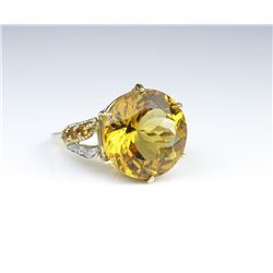 Fantastic Citrine and Diamond Cocktail Ring
