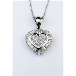 Brilliant Extra Fine Heart Shaped Diamond Pendant