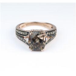 Beautiful LEVIAN Chocolate Topaz and Diamond Ring