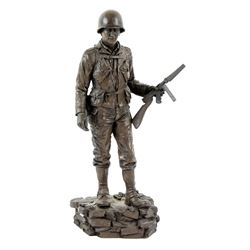Saving Private Ryan (1998) American epic war film, A crew gift statue given to members of the cast a