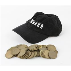 Sahara (2005) 58 Background plastic coins and 3.5 metal foreground coins, with a crew cap from the f