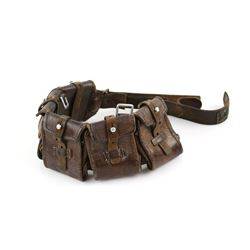 Star Wars - Production made Tusken Raider brown leather belt bag, Western Costume Co barcode 4025307