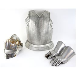 First Knight (1995) - Production used body armour comprising clamshell, helmet and gloves. The clams