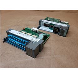(2) Allen-Bradley SL500 Modules 1746-IB16 & 1747-L551