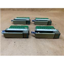 (4) Allen-Bradley 1746-OV32 Series C SLC500 Output Module
