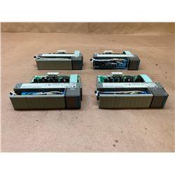(4) Allen-Bradley 1746-OV16 Series C SLC500 Output Module