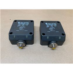 (2) Allen-Bradley 871F-R50N80-R3 Proximity Sensor