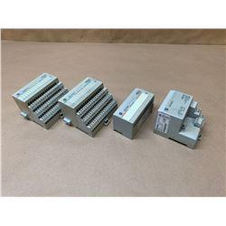 Lot of 4 Allen-Bradley FlexI/O Modules 1794-IB16, 1794-OB16, 1794-OA16 & 1794-ASB2