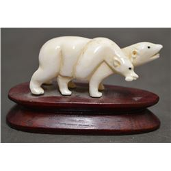 INUIT INDIAN IVORY CARVING