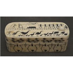 HAND CARVED BONE PUZZLE BOX