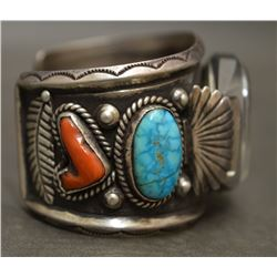 NAVAJO INDIAN WATCH BRACELET