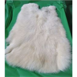 RABBIT PELT (WHITE) *15 INCHES LONG X 12 INCHES WIDE*