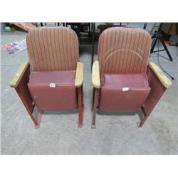 SET OF 2 THEATRE SEATS