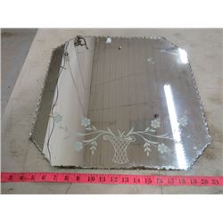 "ETCHED WALL MIRROR (18"" X 18"")"
