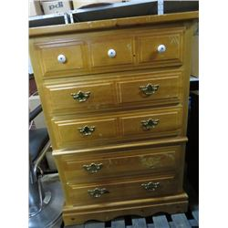"TALL BOY 5 DRAWER DRESSER (1 HANDLE MISSING) *32"" X 18"" X 48""*"