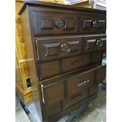 "TALL BOY 5 DRAWER DRESSER (16.5"" X 32"" X 42"")"