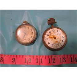 TOW POCKET WATCHES (PARTS)