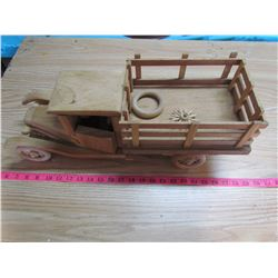 "UNFINISHED WOODEN MODEL TRUCK (21"" X 8"" X 7.5"")"