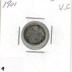 FIVE CENT COIN (CANADA) *1901* (SILVER)