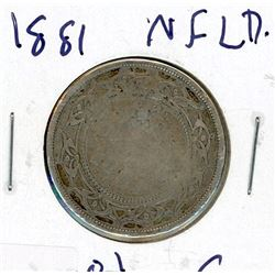 FIFTY CENT COIN (CANADA) *1881* (SILVER) *NEWFOUNDLAND*