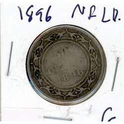 FIFTY CENT COIN (CANADA) *1896* (SILVER) *NEWFOUNDLAND*