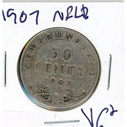 FIFTY CENT COIN (CANADA) *1907* (SILVER) *NEWFOUNDLAND*