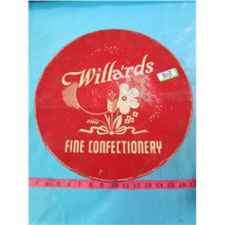 WILLARDS FINE CONFECTIONARY TIN