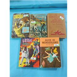 LOT OF 5 BOOKS (LASSIE, LONE RANGER)
