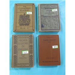 LOT OF 4 READER BOOKS (1909-1922)