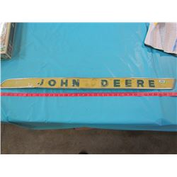 JOHN DEERE SIGN (NARROW METAL STRIP)