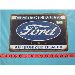 FORD SIGN (GENUINE PARTS AUTHORIZED DEALER) *REPRODUCTION*