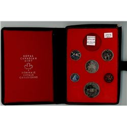 DOUBLE DOLLAR SILVER PROOF SET (CANADA) *1973* (MISSING ONE DOLLAR COIN)