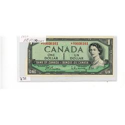 ONE DOLLAR REPLACEMENT BILL (CANADA) *1954*
