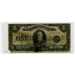 ONE DOLLAR BILL (DOMINION OF CANADA) *1923*