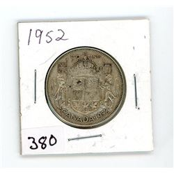 FIFTY CENT COIN (CANADA) *1952* (SILVER)