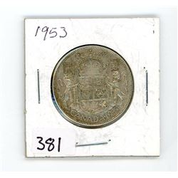 FIFTY CENT COIN (CANADA) *1953* (SILVER)