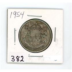 FIFTY CENT COIN (CANADA) *1954* (SILVER)