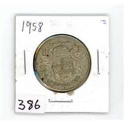 FIFTY CENT COIN (CANADA) *1958* (SILVER)