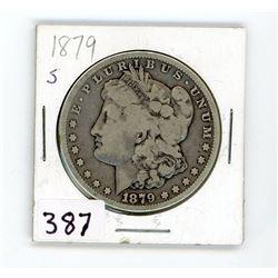 ONE DOLLAR COIN-MORGAN (CANADA) *1879 S* (SILVER)