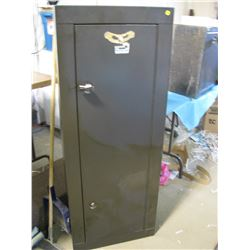 """GUN SAFE (HOMAK SECURITY)  *21"""" WIDE X 10"""" DEEP X 55"""" TALL* (GUNS IN PICTURES NOT INCLUDED) *WITH KE"""