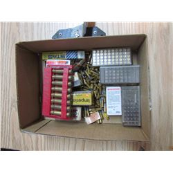 LOT OF ASSORTED AMMUNITION AND ARROW HOLDER *PICK UP ONLY*